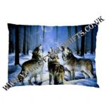 Fantasy Wolf Wolves Howling Themed Pillow Cases